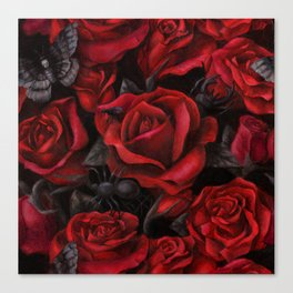 Bugs and Roses Canvas Print