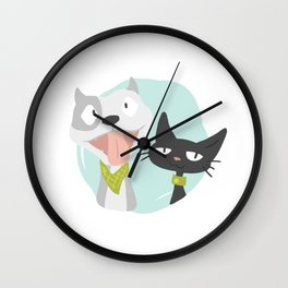 Pit and Friend Wall Clock