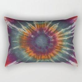 Eye Ring Tie Dye Rainbow Rectangular Pillow