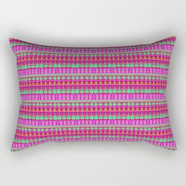 Aztec Tribal Motif Pattern in Pink, Lime and Fuchsia Rectangular Pillow