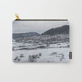 Snowy landscape from Sicily Carry-All Pouch