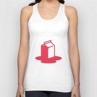 milk Tank Tops featuring Milk by SMOKIN' HOT MEN