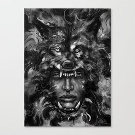 Empress Wolf Canvas Print