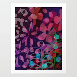Fleurs D'été Art Print