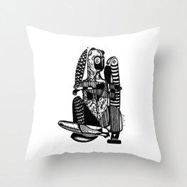 Bear me - Emilie Record Throw Pillow