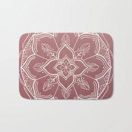 Gothic Mandala -Dusty Rose Bath Mat