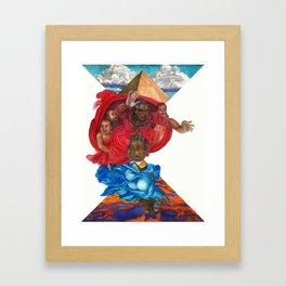 Kimye Illuminati Bugatti Framed Art Print
