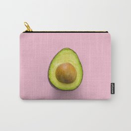 Avocado Art Print On Pink Background Home Decor And Accessories Carry-All Pouch