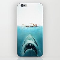 jaws iPhone & iPod Skins featuring JAWS by Smart Friend