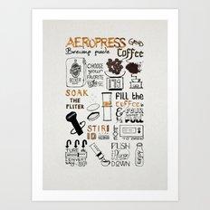 Aeropress poster Art Print