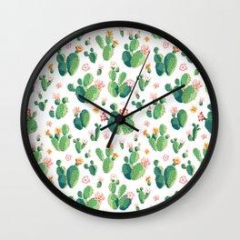 Cactus pattern II Wall Clock