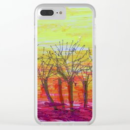 'Evening Woods' Clear iPhone Case