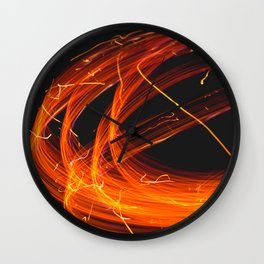 Drawing with Light Wall Clock