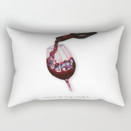 watercolor glass of wine Rectangular Pillow