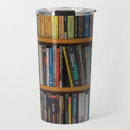 Bookshelf Books Library Bookworm Reading Pattern Travel Mug