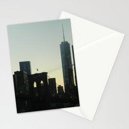 New York City Skyline at Dusk Stationery Cards