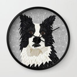 Beautiful Border Collie Wall Clock