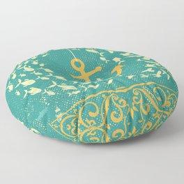 GOLDEN ANCHOR Floor Pillow