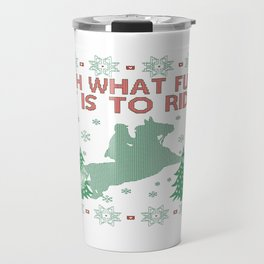 Riding Horse Christmas Travel Mug