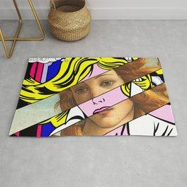 Roy Lichtenstein Maybe and Botticelli Venus Rug