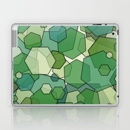 Converging Hexes - Green and Yellow Laptop & iPad Skin