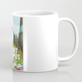 Mount Olympus, Greece, Travel poster Coffee Mug