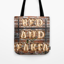 Bed and Breakfast -  Wall-Art for Hotel-Rooms Tote Bag