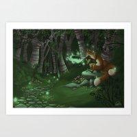 Fox Fire Art Print