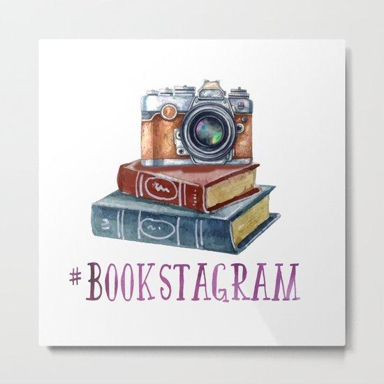 Watercolor Bookstagram Metal Print