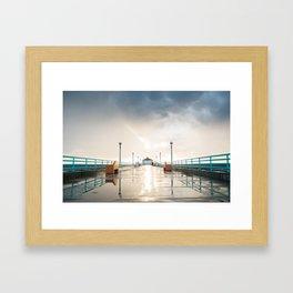 The Deserted Pier Framed Art Print
