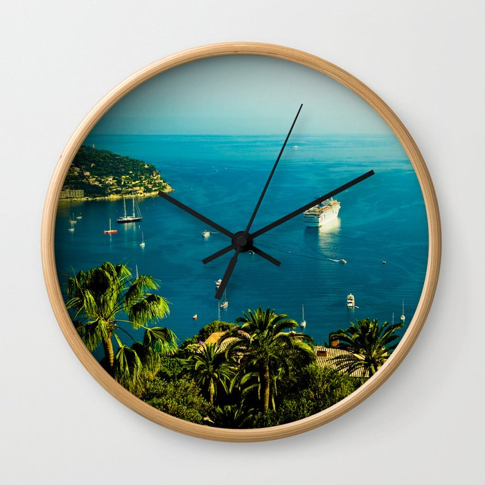 Côte d'Azur Wall Clock