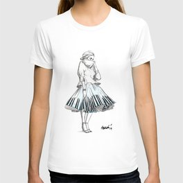 midi skirts T-shirt