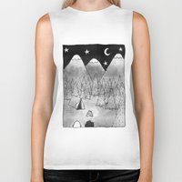 camping Biker Tanks featuring Camping. by Caleb Boyles