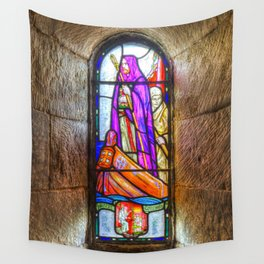 Stained Glass Window Wall Tapestry
