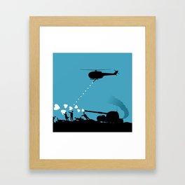 Love army Framed Art Print