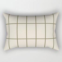 Back to Basics / Sand & Olive Grid Rectangular Pillow