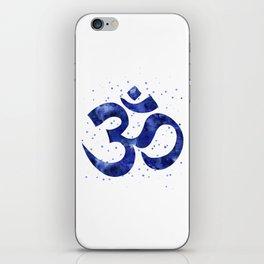 Ohm Symbol Blue iPhone Skin