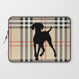WEIMARANER BEIGE PLAID Laptop Sleeve