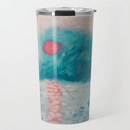 Pink Sunrise Travel Mug