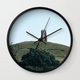glastonbury tor Wall Clock