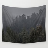 cabin Wall Tapestries featuring Hidden Cabin by Jason Mageau Photo
