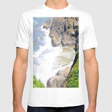 Ocean Rocks MEDIUM Mens Fitted Tee White