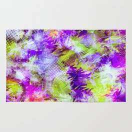 Potpourri in Purple and Lime Rug