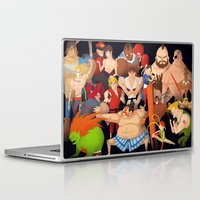 street fighter Laptop & iPad Skins featuring Street Fighter by Peerro