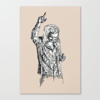 harry styles Canvas Prints featuring Harry Styles by Cécile Pellerin