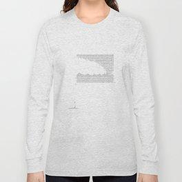 Erosion & Typography 3 Long Sleeve T-shirt