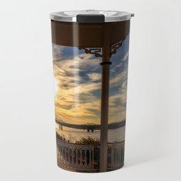 Mississippi River Gazebo Travel Mug