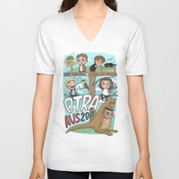 cyrilliart V-neck T-shirts featuring OTRA Australia by Cyrilliart