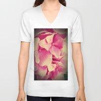 hydrangea V-neck T-shirts featuring hydrangea by Enri-Art