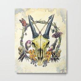 PentaSkull (Variant)  Metal Print